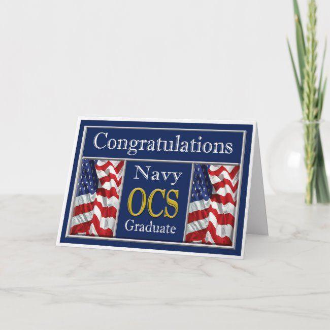 Military Navy OCS Graduation Congratulations Card #military #navy #graduatiion #ocs #congratulations