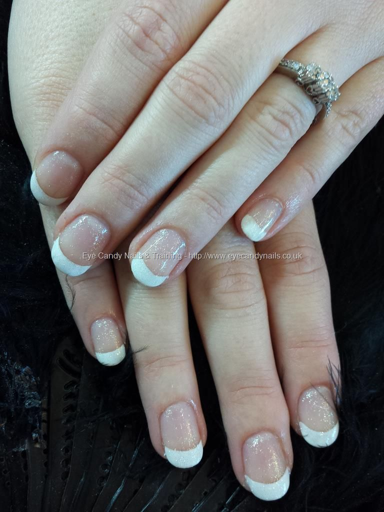 White French Polish Over Gel Overlays Gel Nail Art Pinterest