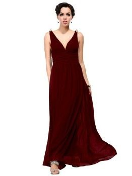 b5dbd84a159 Shop Ever Pretty Women s Sleeveless V-Neck Semi-Formal Maxi Dress. Free  delivery and returns on eligible orders. Cute long evening dresses under 50  dollars ...