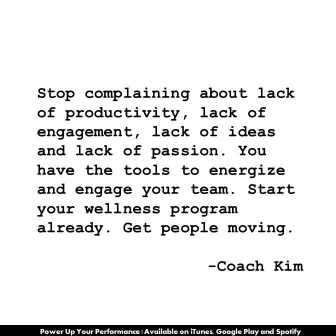 Stop complaining about lack of productivity, lack of