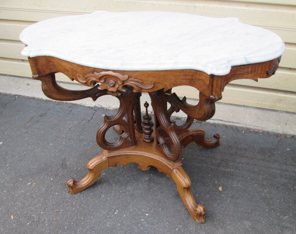 Victorian marble top table jpg - 57750 Antique Victorian Marble Top Table Stand Victorian