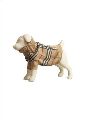 Doggielicious Burberry Dog Collection Dog Clothes Dog Winter Clothes Dog Sweaters