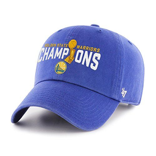NBA Golden State Warriors 2017 Champions '47 Clean Up Adjustable Hat  http://allstarsportsfan.com/product/nba-golden-state-warriors-2017-champions-47-clean-up-adjustable-hat/  Support your favorite team in style & comfort Classic look & feel – great gift for fans '47 produces only the finest sportswear for the fashion-conscious fan