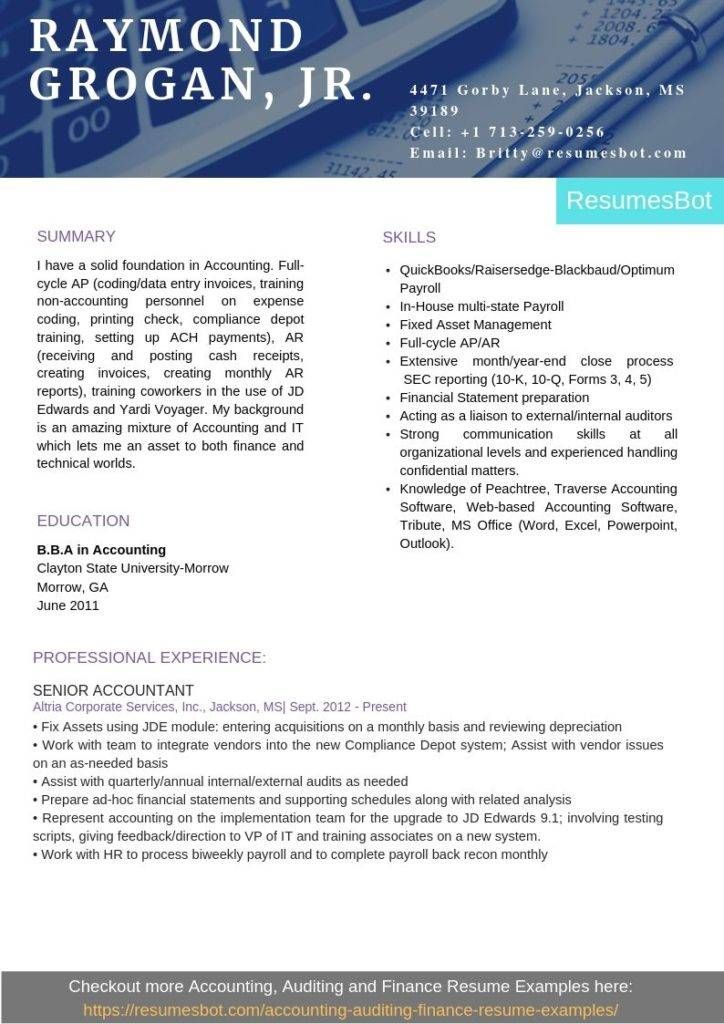 Senior Accountant Resume Samples & Templates [PDF+DOC