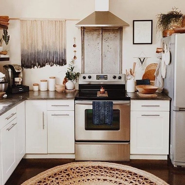 Top Ideas to Get Boho Style Kitchen | Home kitchens, Sweet ...