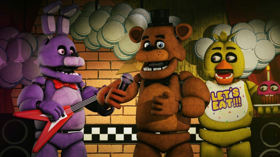 Freddy Chica Bonnie and Foxy by WitheredFoxyArt on DeviantArt