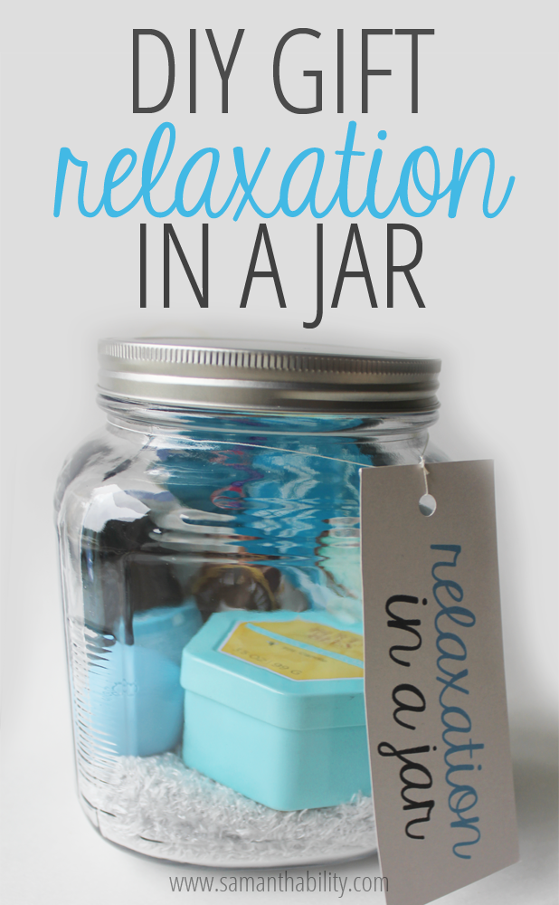 Diy Gift Relaxation In A Jar Care Packages Pinterest