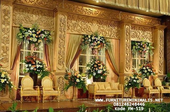 Jual Dekorasi Pelaminan Terbaru Ukir Elegan Modern Gebyok Mewah Furniture Minimalis Jepara Perkawinan Sederhana Dekorasi Perkawinan Dekorasi Pernikahan