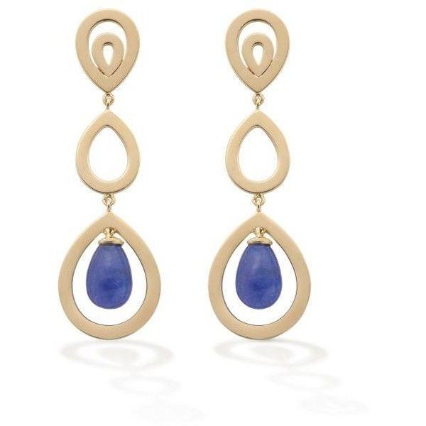 Women's Yellow Gold Earrings by Robinson Pelham Tanzanite Pyrus... ($3,805) ❤ liked on Polyvore featuring jewelry, earrings, gold jewelry, yellow gold jewelry, gold jewellery, yellow gold earrings and tanzanite earrings