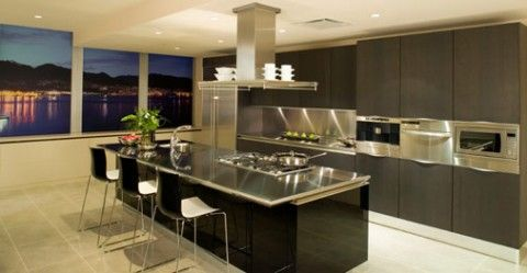 Cocinas modernas con isla central | Cocina moderna, Moderno y Cocinas