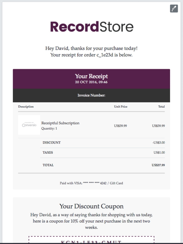 Screenshot Showing An Order Confirmation Page With A Receipt And A Future Promo Code Shopify Apps Make Money Now Shopify