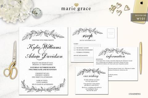 Wedding Invitation Charming Diy lace wedding invitations