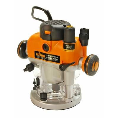 Triton 3 25 Hp Dual Mode Plunge Router Tra001 The Home Depot Plunge Router Router Router Woodworking