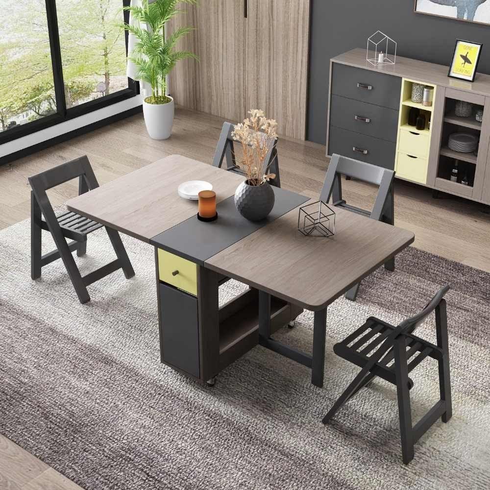 Fashion Folding Dining Table Furniture Yemek Masasi Mult Di