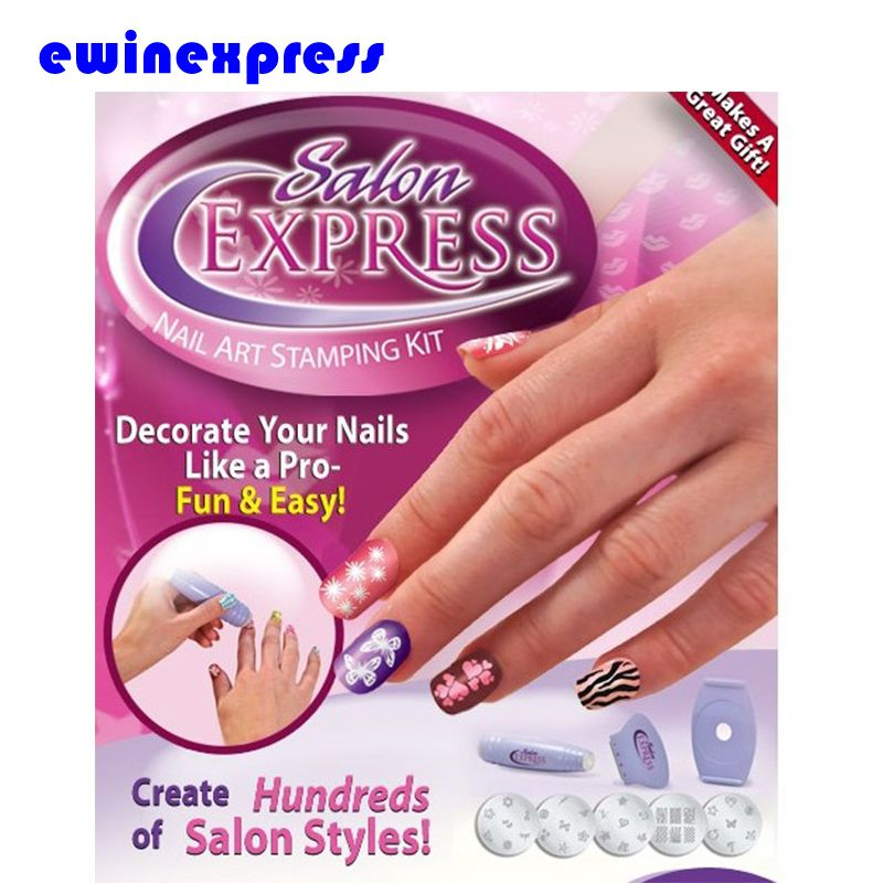 1 X Salon Express Nail Art Stamping Kit Decorate Nails