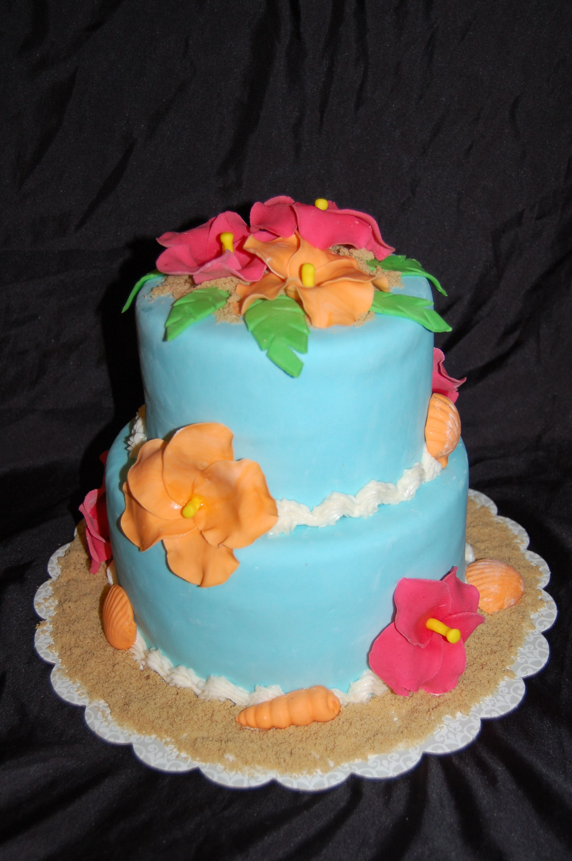 Luau Sheet Cake Ideas