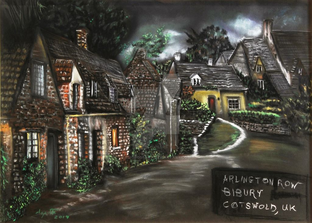 Bibury by art-paintings.deviantart.com on @DeviantArt