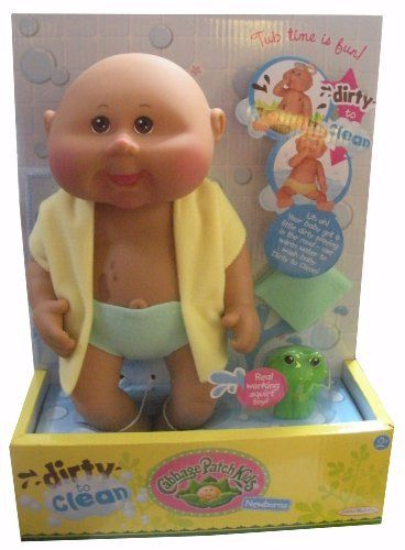 11 Inch Pink Retro Baby Doll Cabbage Patch Kids Caucasian Girl, Blonde Hair...