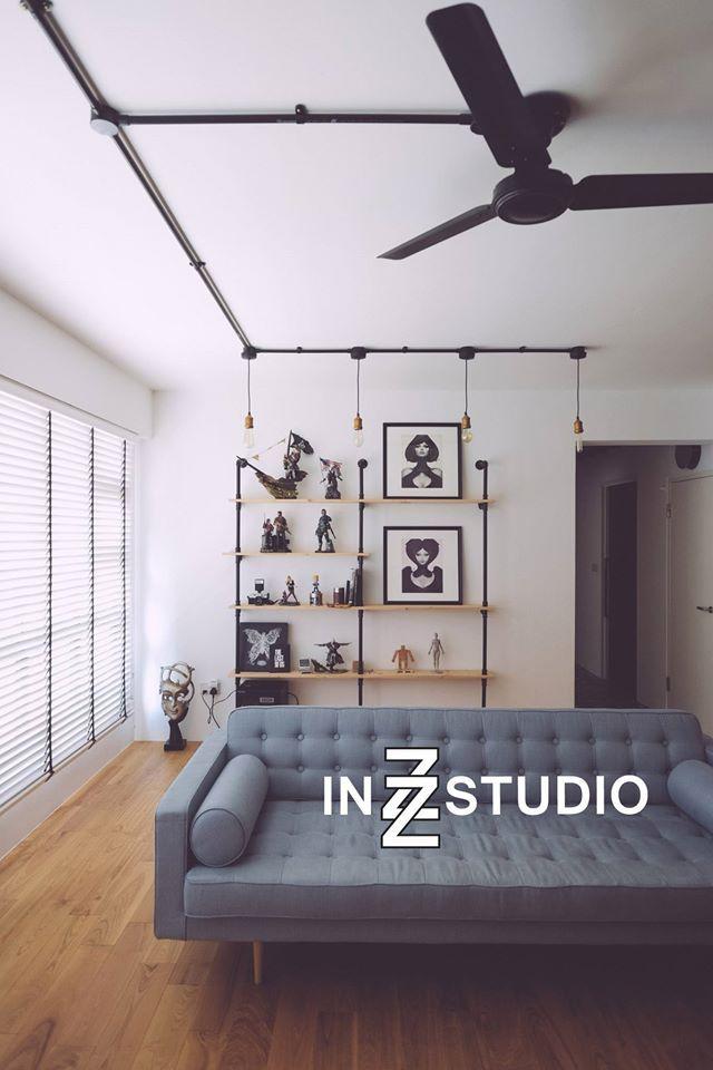 Punggol Walk Scandinavian HDB Interior Design Living Room Display Cabinet