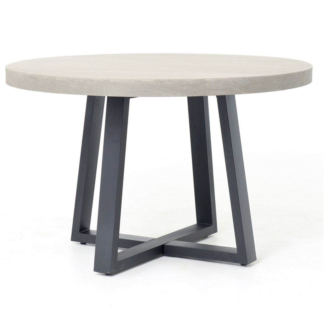 Masonry Concrete 48 Round Dining Table With Images 48 Round