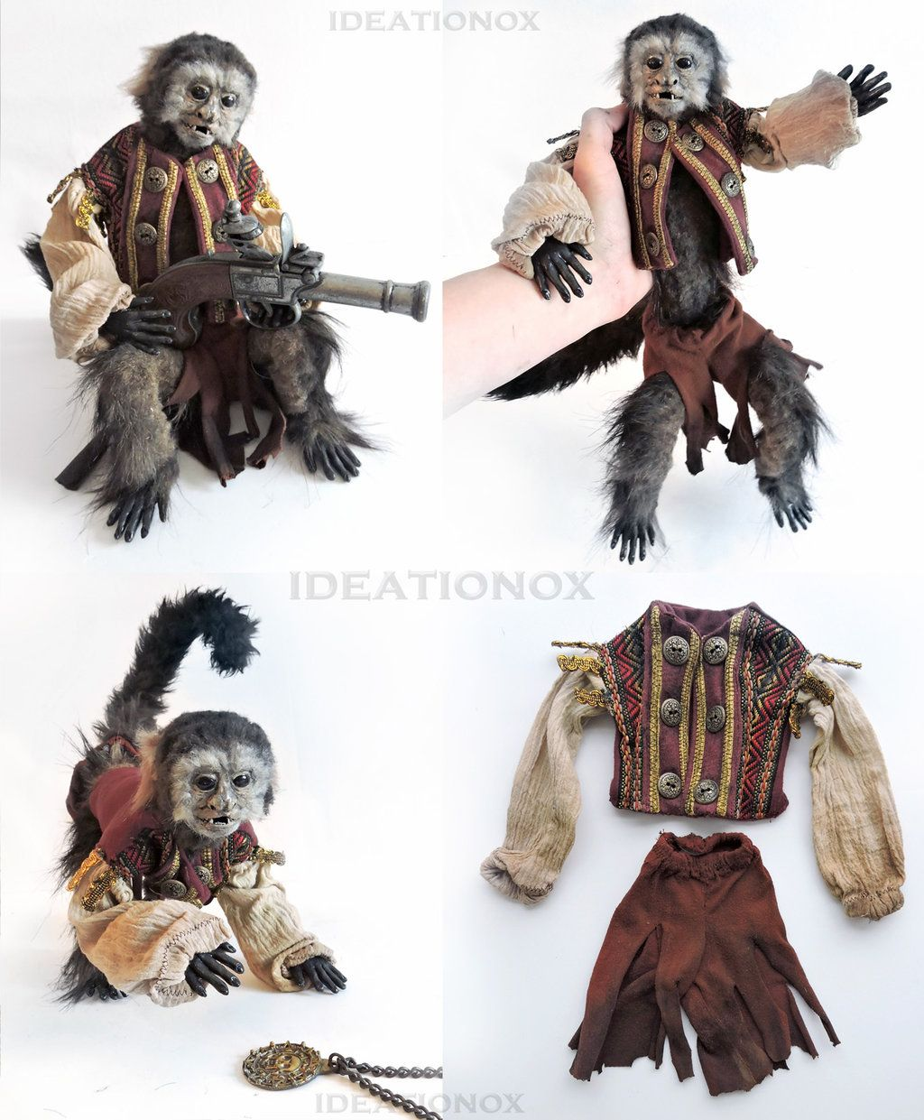 Jack the Monkey Pirates of the Caribbean Prop by Ideationox ...