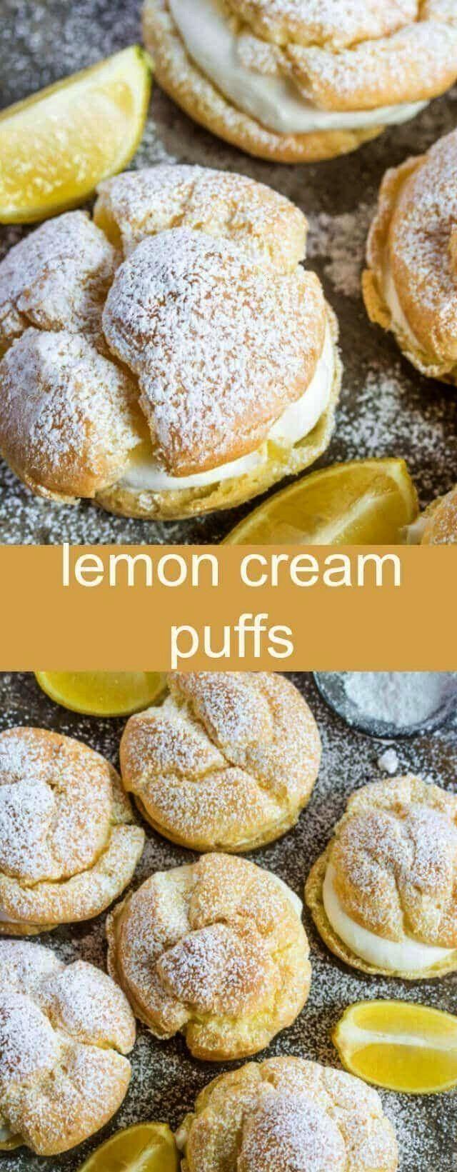 Cream Puffs {An Easy Lemon Twist on a Classic Recipe} cream puff/lemon/des... - Best Blog Posts {Gr