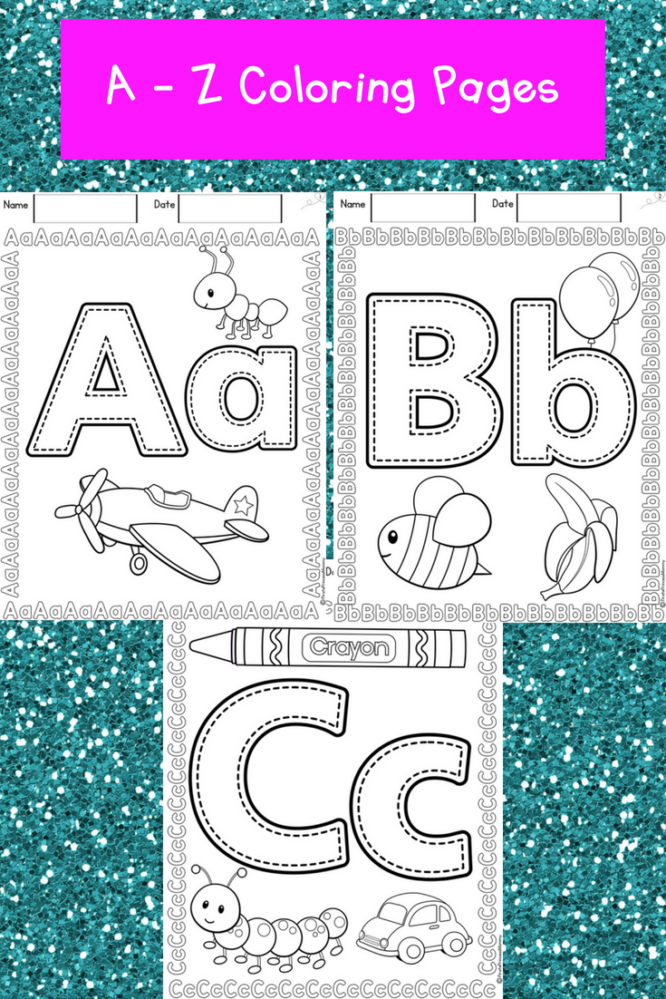These Are Simple Coloring Pages To Introduce Children To Letters There Is One For Each Lette Kindergarten Learning Activities Abc Coloring Pages Abc Coloring