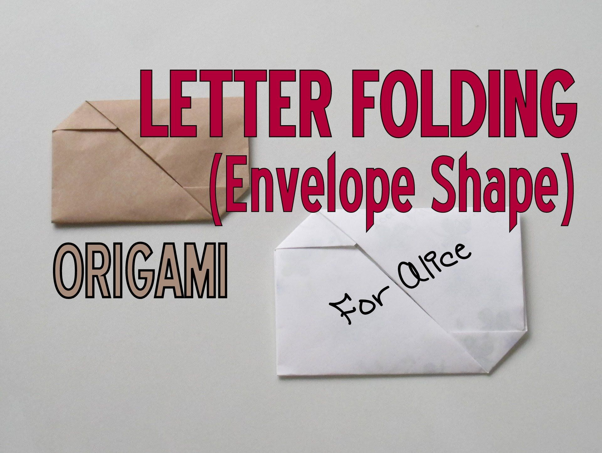 Koori Style Pull Tab Letter Folding Video Tutorial Perfect