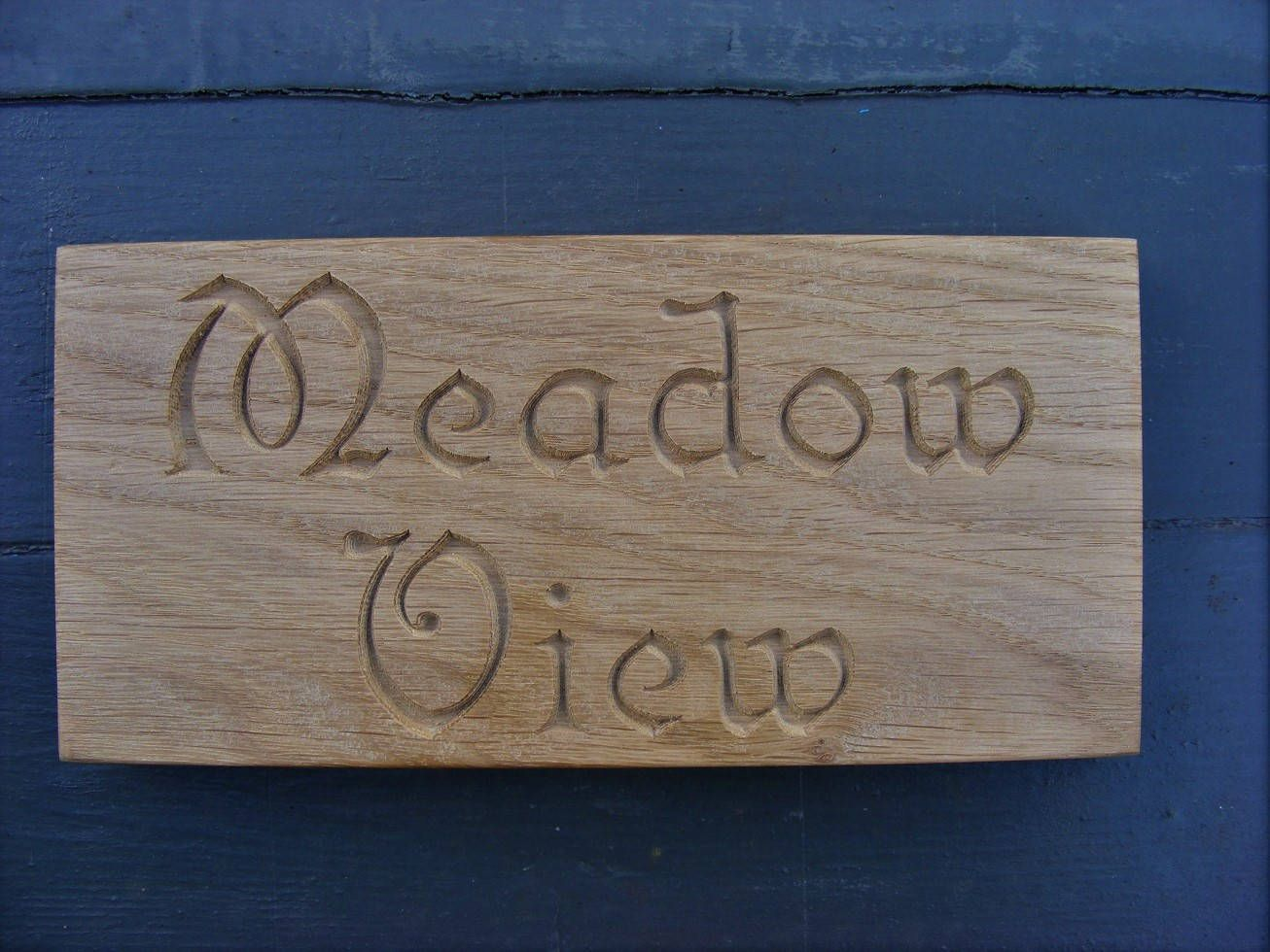 Personalised Carved Natural Oak Plaque Engraved Wooden