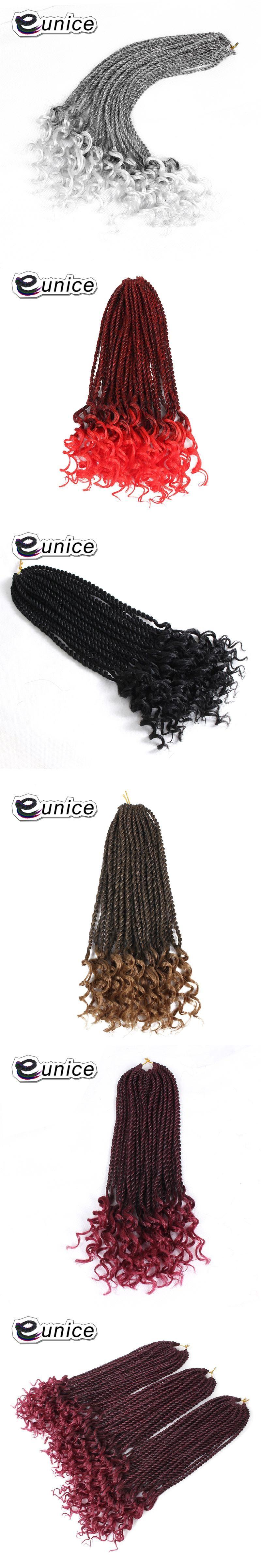 Eunice Hair Crochet Braids 16inch Synthetic Braiding Pre Curled