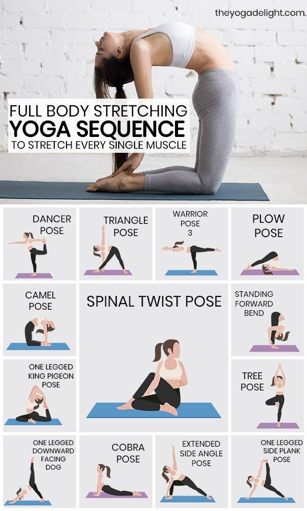 Full Body Stretching Yoga Sequence To Stretch Every Muscle In Your Body Easy Yoga Workouts Easy Yoga Poses Flexibility Workout