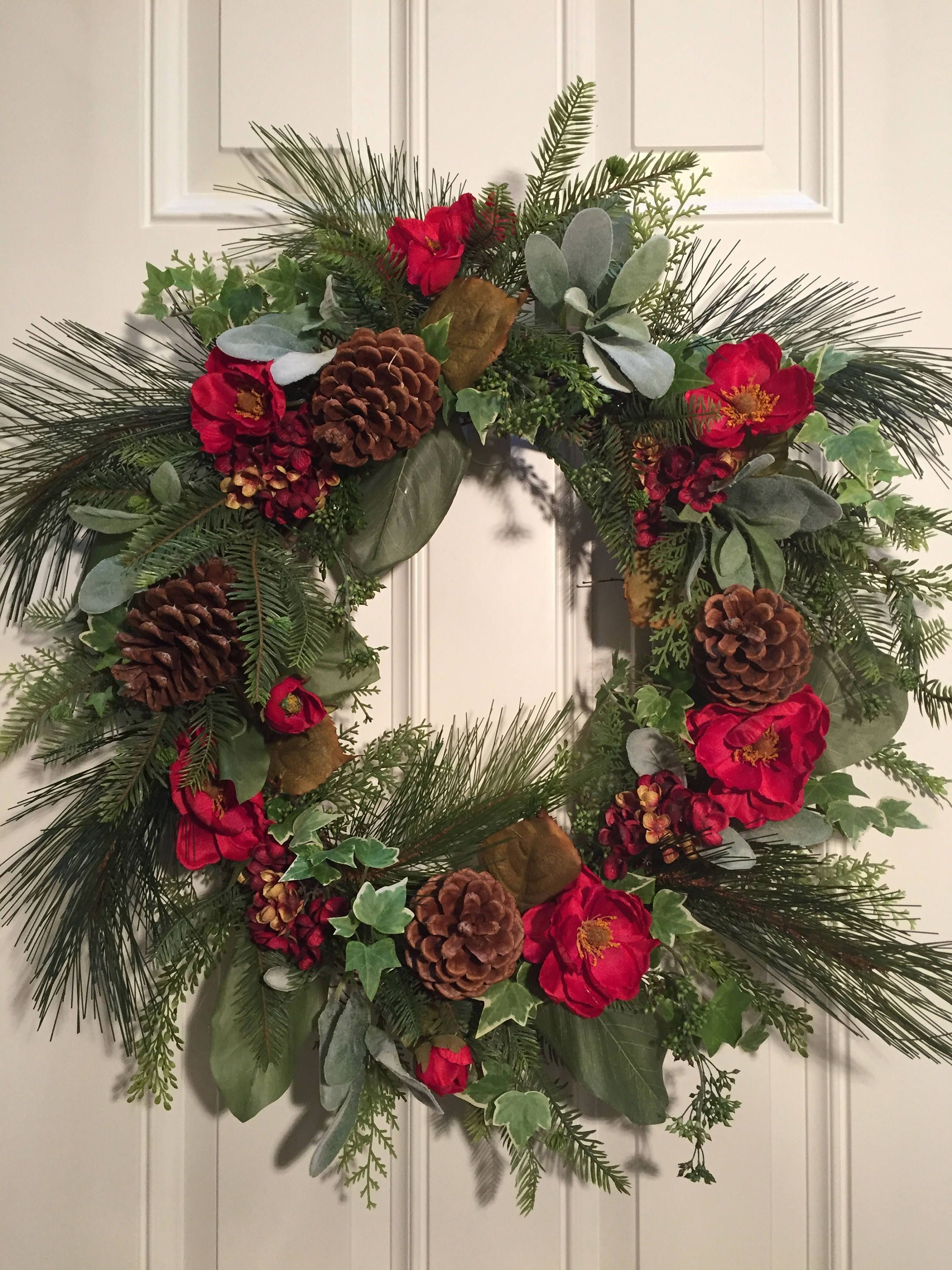 Front Door Wreath, Winter Wreath, Christmas Wreath, Artificial Wreath By  AtriumDesignGroup On Etsy