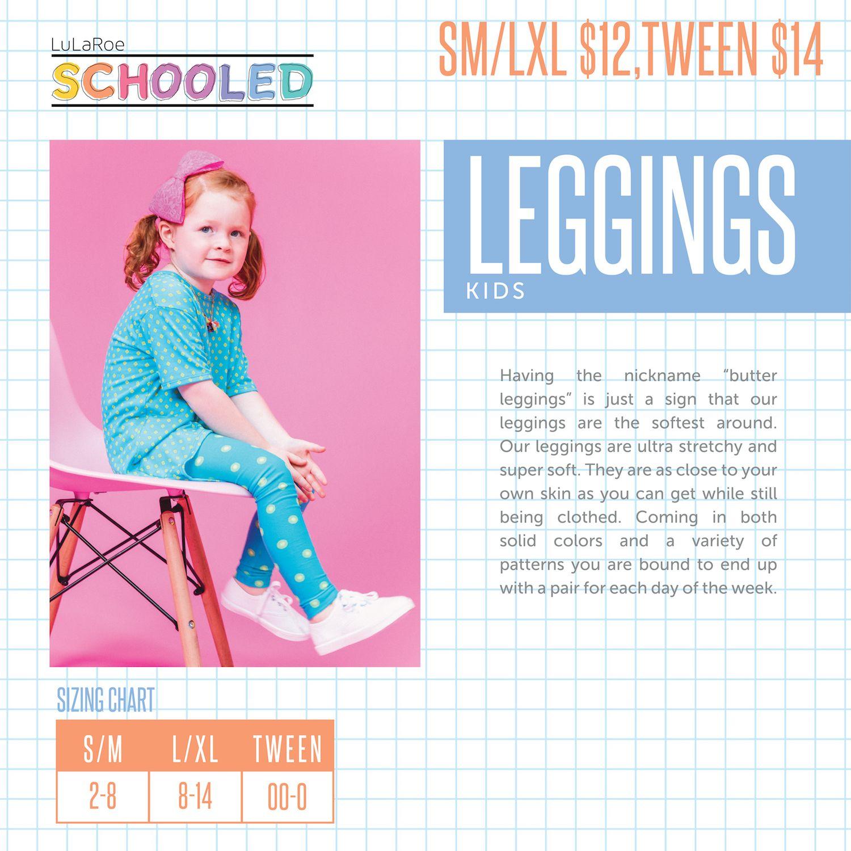 bfaec1490 LuLaRoe New Pricing for Kid's Items - Kid's Leggings - LuLaRoe Schooled -  Back to School