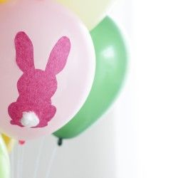 Easter DIY Easter Bunny Balloons