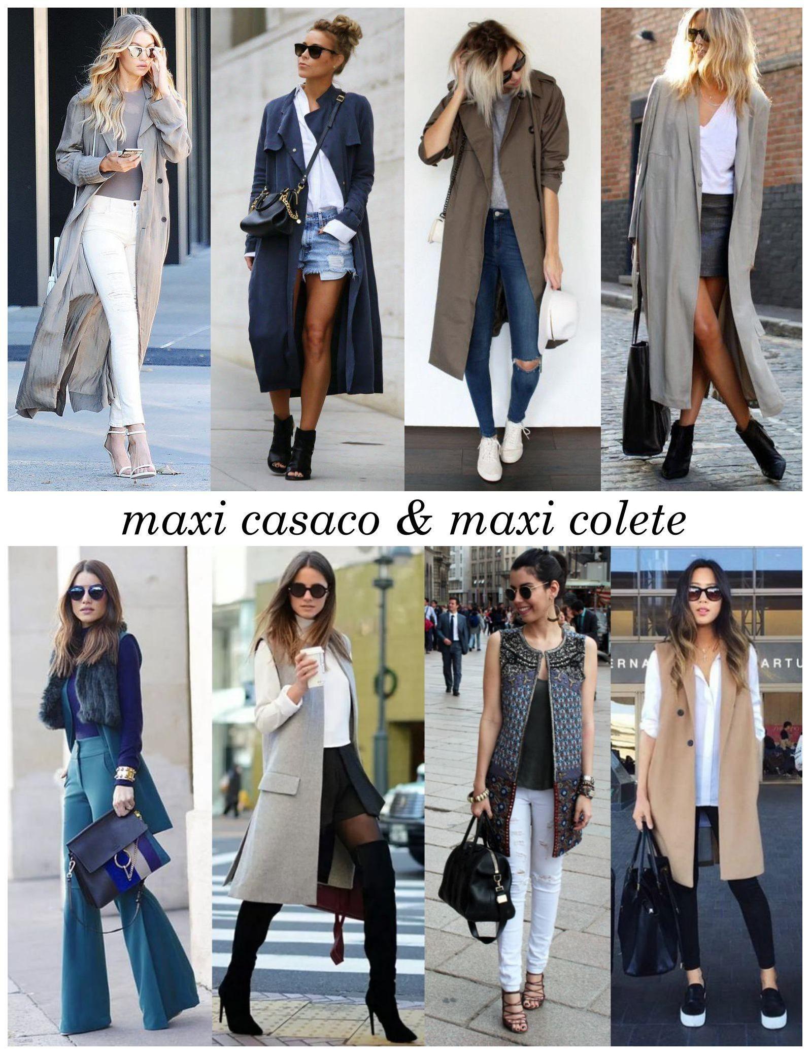 Como usar casaco e colete longo