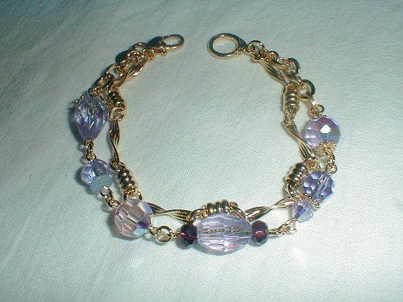 kirks folly bracelet double strand by qualityvintagejewels on Etsy