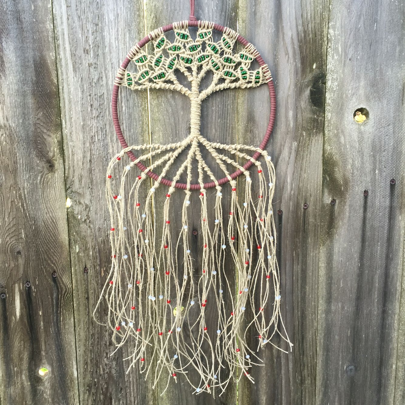 Tree Of Life Macrame Suncatcher Woven With Eco Friendly