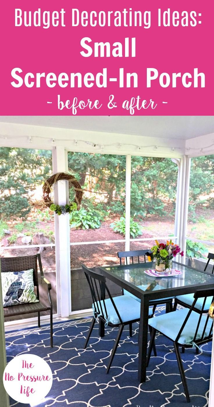 Decorating A Screened In Porch Our Budget Makeover Porch