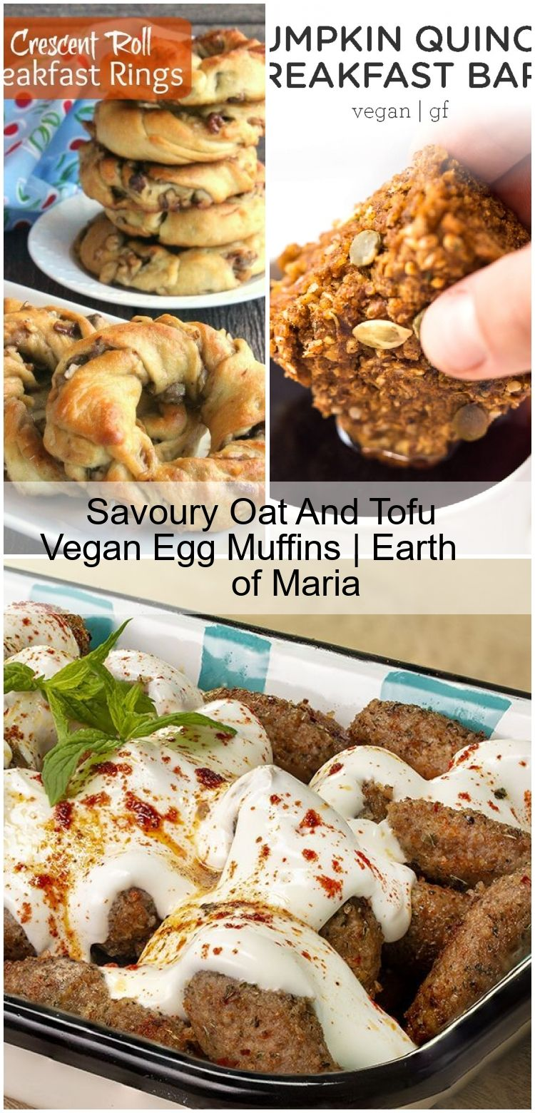 Savoury Oat And Tofu Vegan Egg Muffins | Earth of Maria,  #Earth #egg #Maria #Muffins #Oat #Savoury #tofu #Vegan