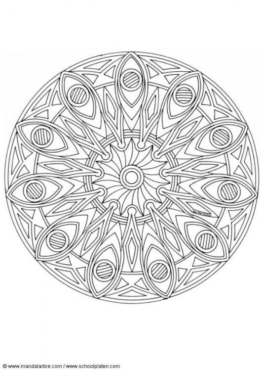 Mandala oeil pergamano patrons et r as mandalas - Oeil a colorier ...