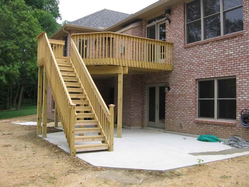 Backyard Deck Designs Build Small Backyard Elevated Deck Plans