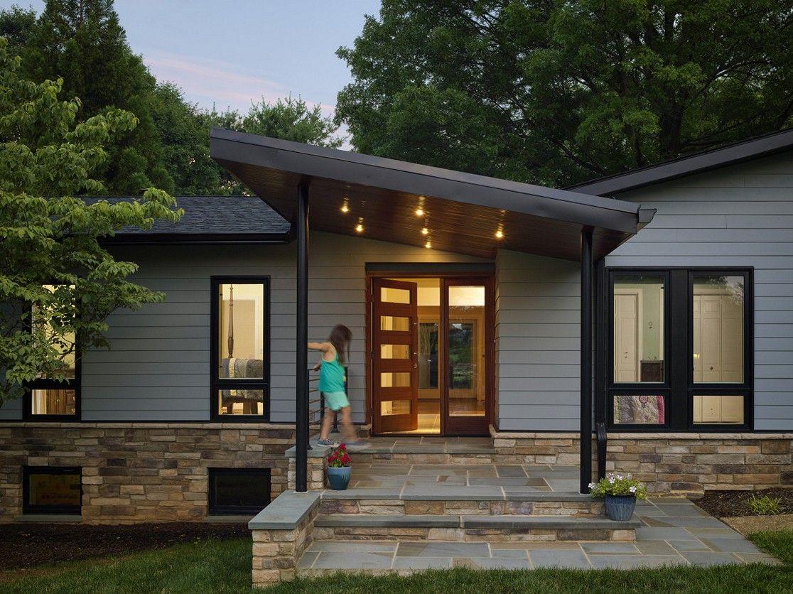 23 Contemporary Front Porches Ideas House Exterior Curb Appeal Exterior Design