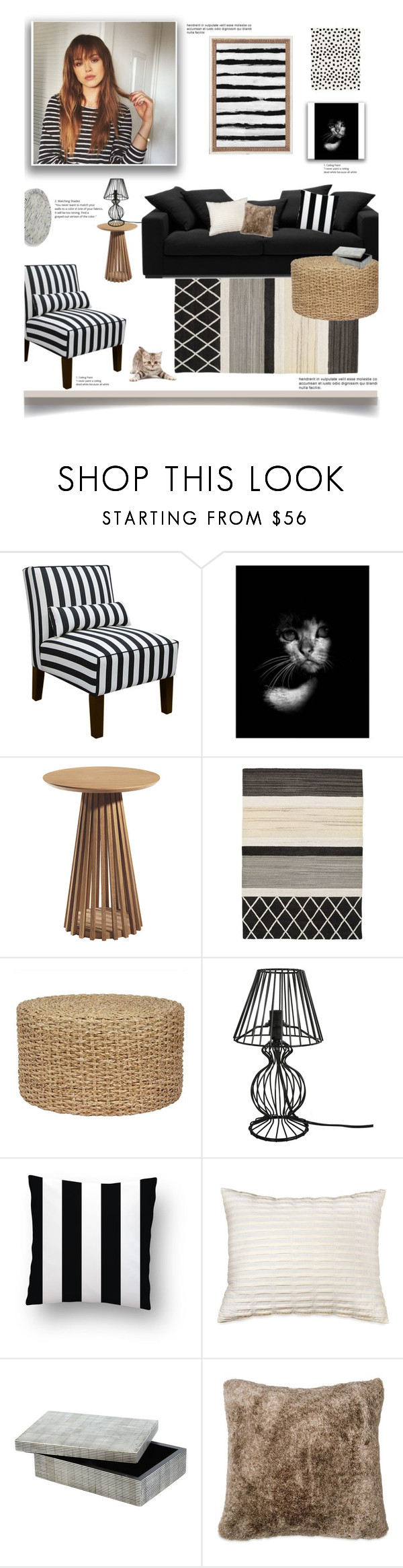 """Just Me and My Cat'"" by dianefantasy ❤ liked on Polyvore featuring interior, interiors, interior design, home, home decor, interior decorating, Skyline, NOVICA, BoConcept and DKNY"