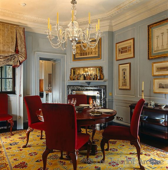 John stefanidis the dining room has its original for Georgian dining room ideas