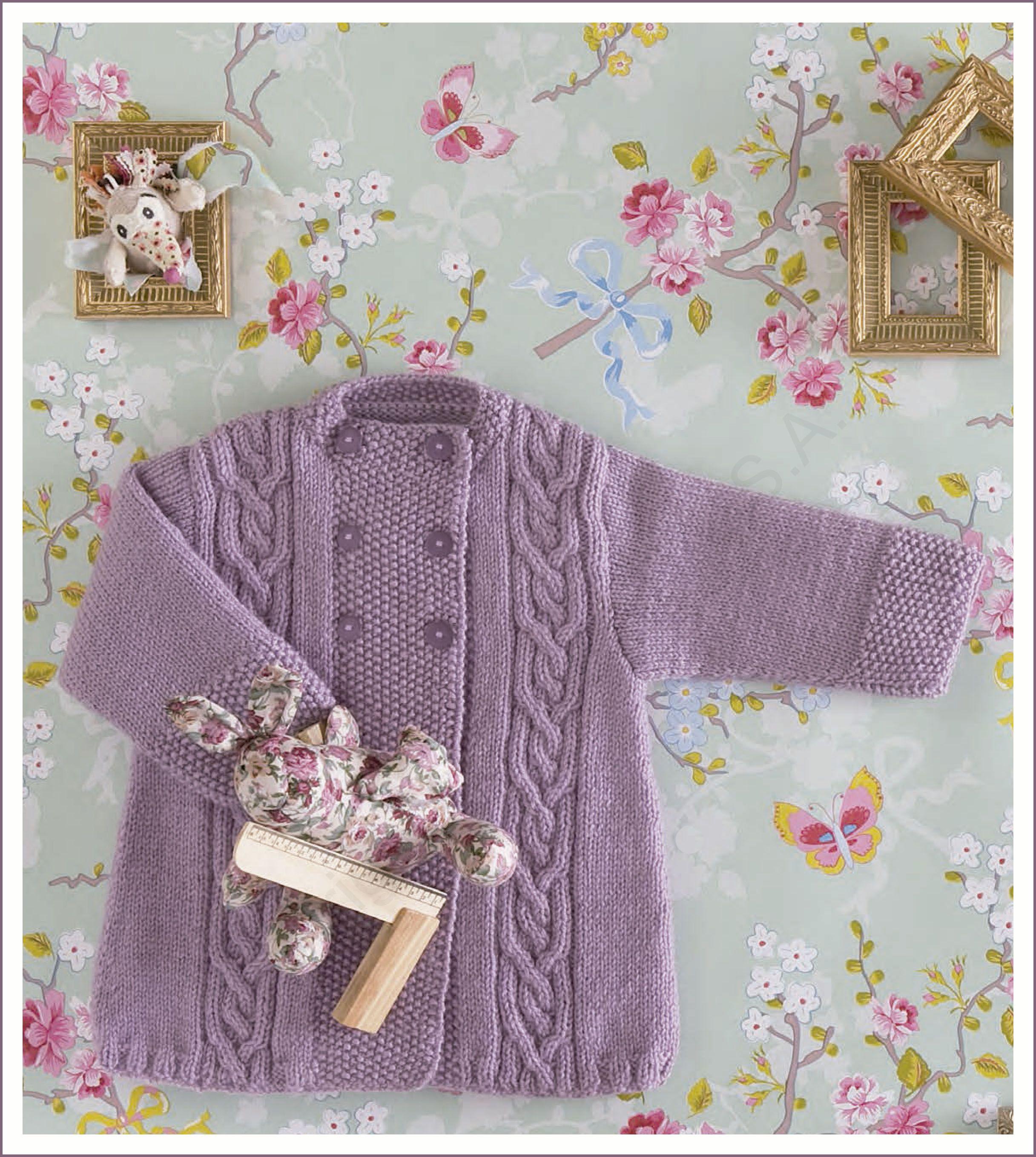Abrigo para beb lanas ganchillo y punto bebes - Lanas y punto ...