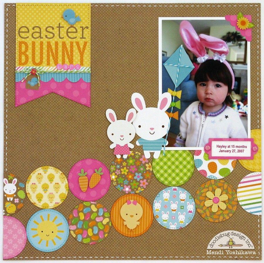 Doodlebug Design Inc Blog: Easter Bunny Ears Layout by Mendi Yoshikawa