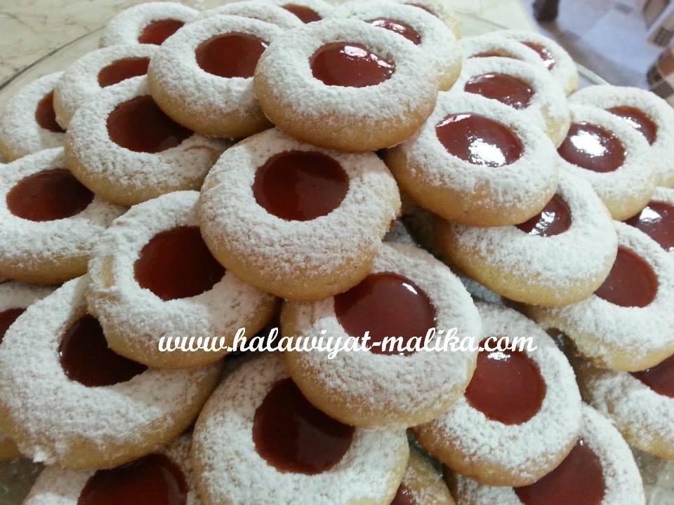 غريبة عادية ولاأسهل Food Thumbprint Cookies Desserts