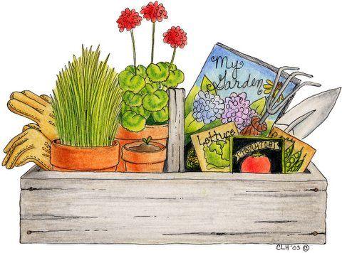 Gardening | Cuadros | Pinterest | Gardens, Clip art and ...