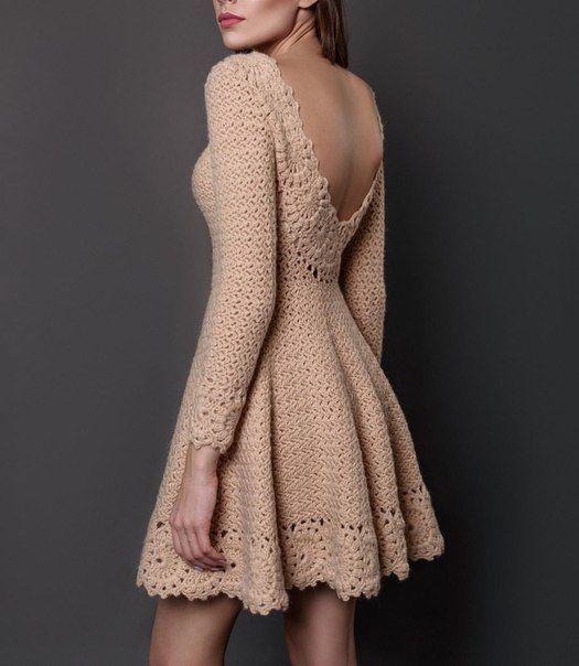 Modelos de vestidos tejidos en lana