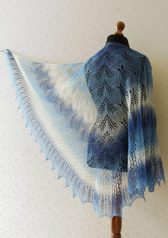 Shawl  cape wool white lace